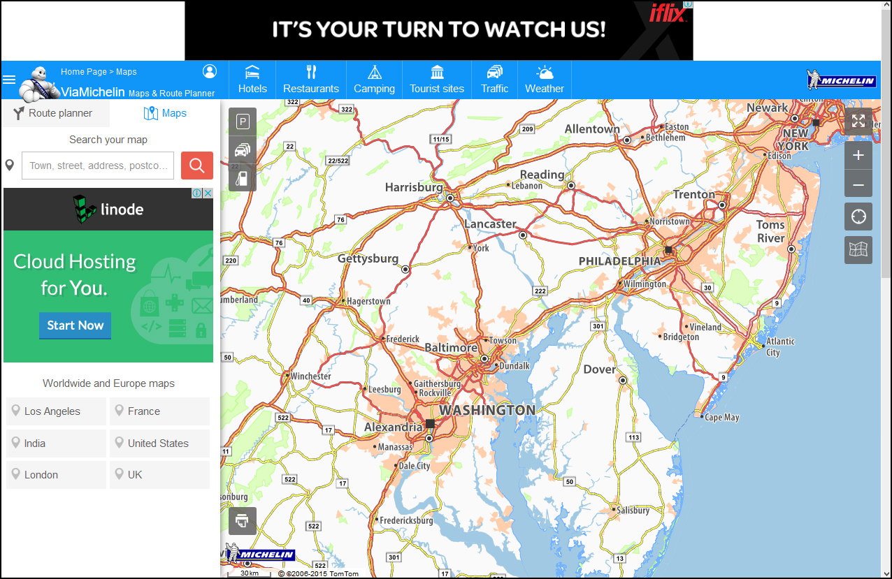 Bing Directions Mapquest - Map united states america mapquest