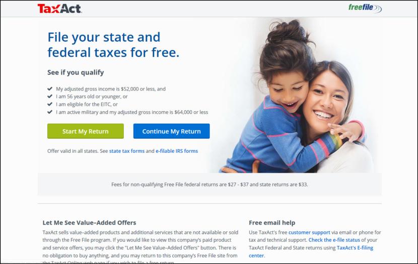 TaxAct®Free File