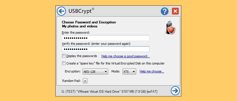 USBCrypt Portable USB Flash Drive Encryption - Unhackable Military 256-Bit Keys