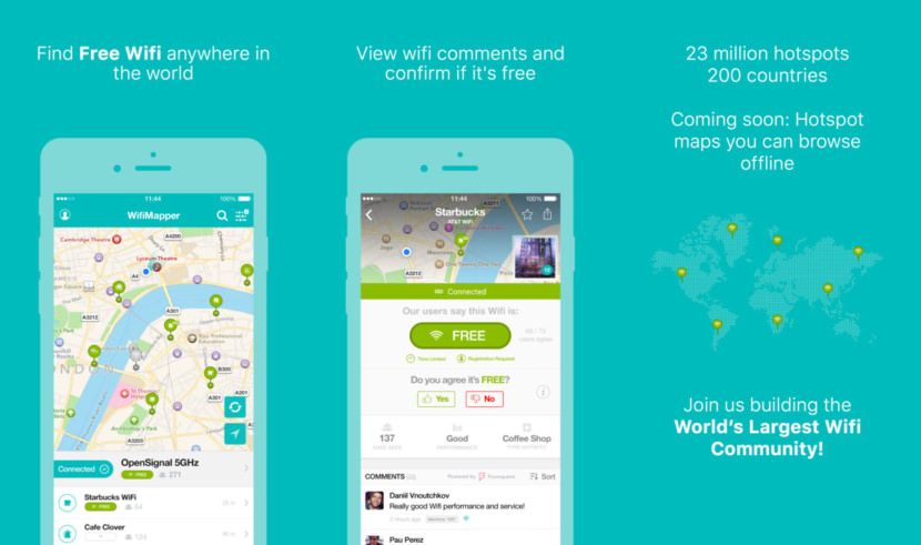 WifiMapper free wifi available