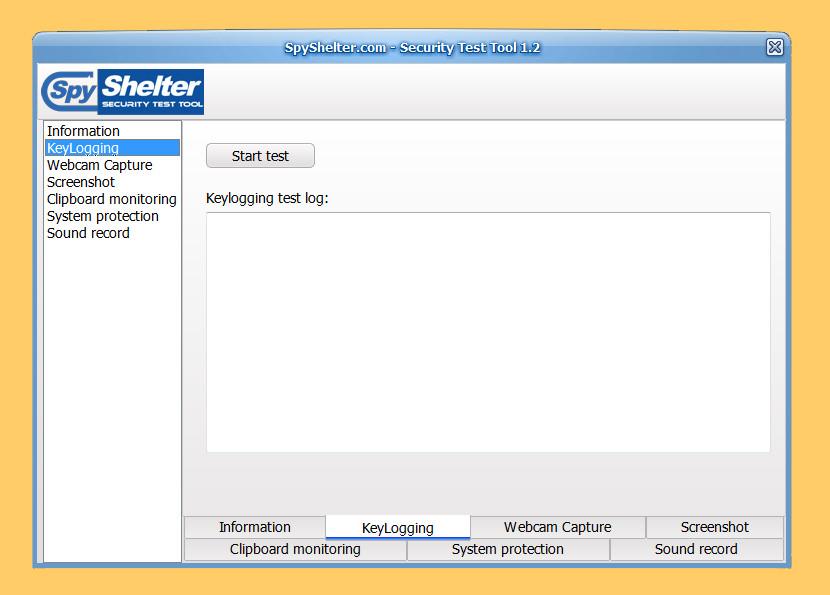 SpyShelter Security Test Tool