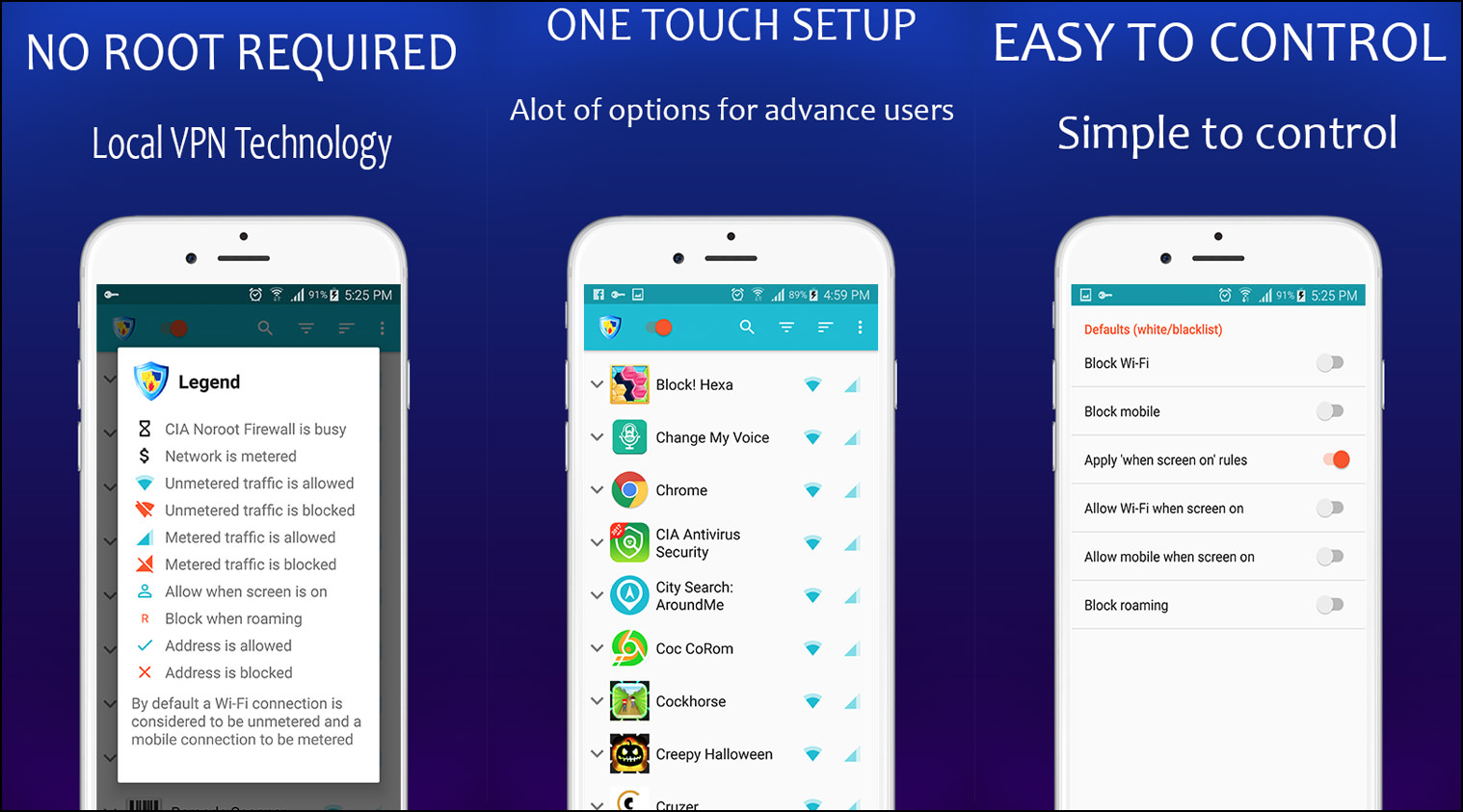 4 Free No Root Firewall APK For Google Android Smartphones