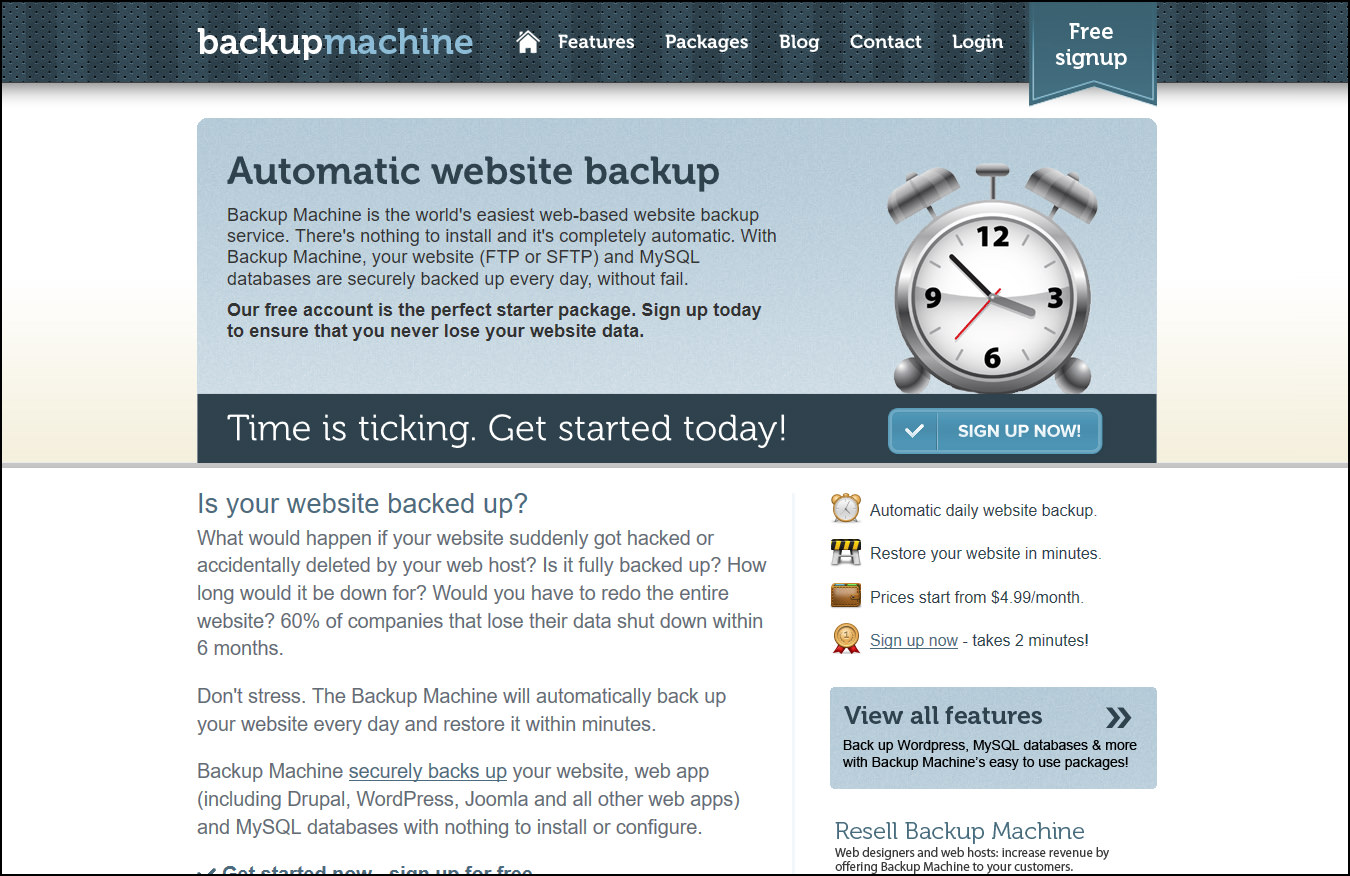 machine backup