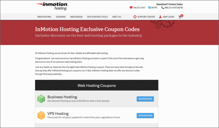 InMotion Hosting Promotion Coupons