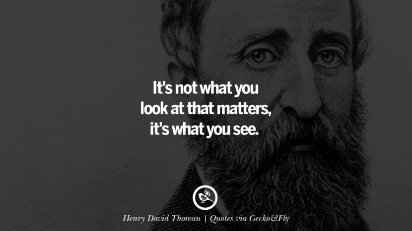 It's not what you look at that matters, it's what you see. - Henry David Thoreau Quotes That Engage The Mind And Soul With Wisdom And Words That Inspire