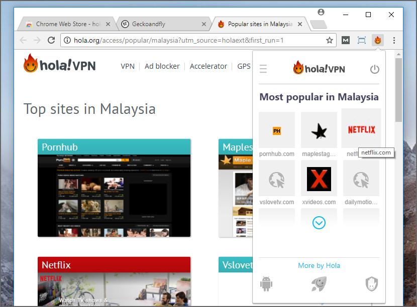 hola vpn free extension for google chrome