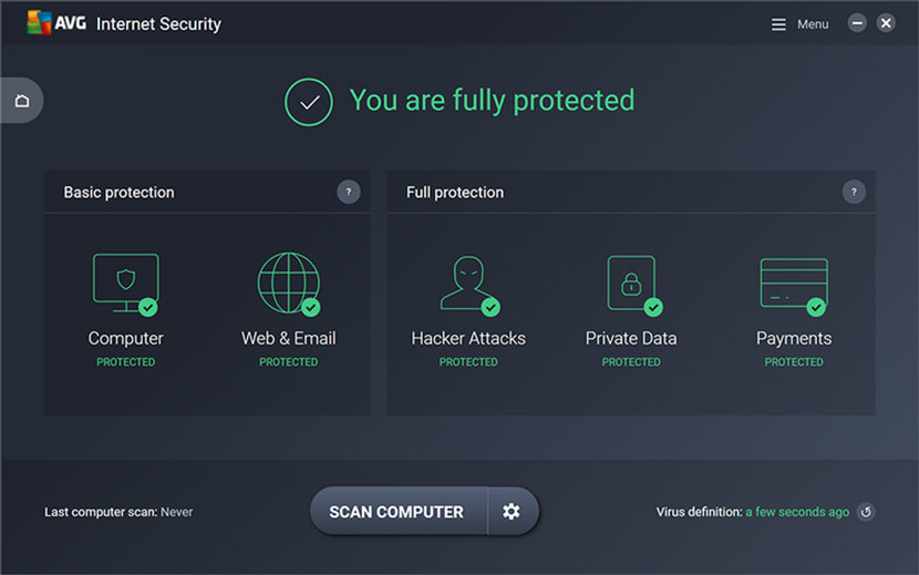 AVG Ultimate 2018 With TuneUp, AntiVirus PRO, And FireWall