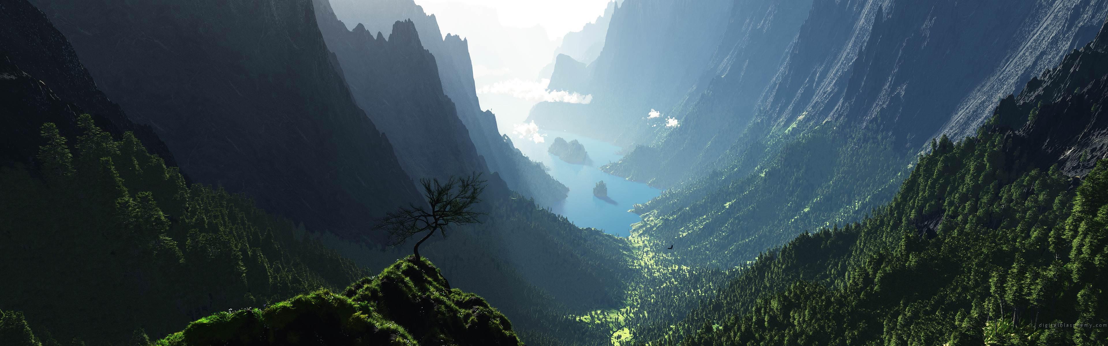 Valley [ 3840 x 1200 ]