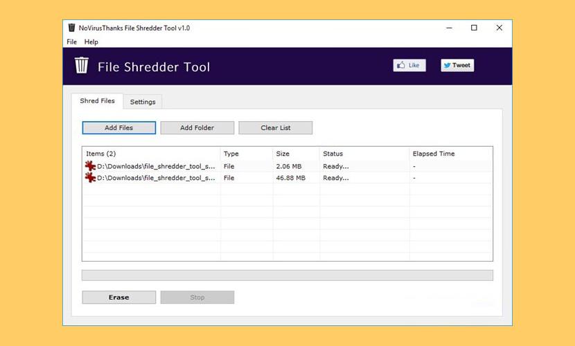 NoVirusThanks File Shredder Tool