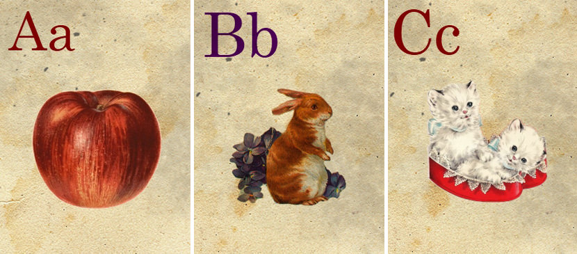 Sweetly Scrapped ABC Flash Cards