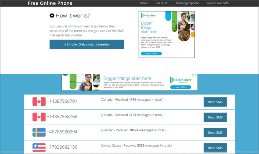 Free Online Phone Instantly Receive SMS Online