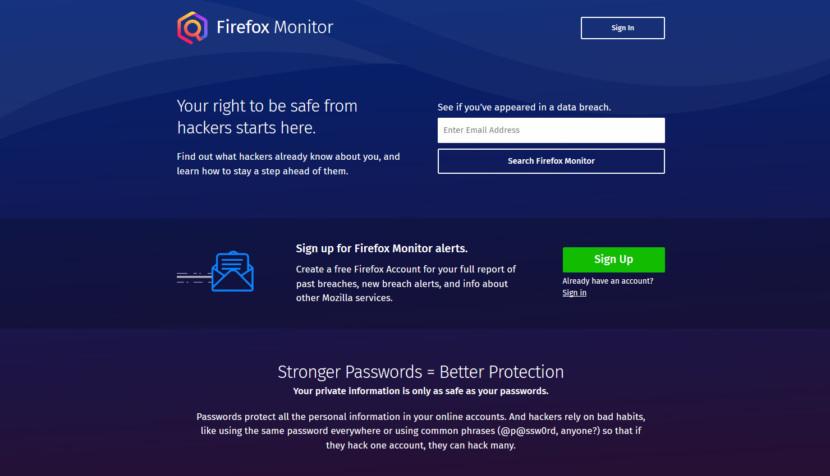 Firefox Monitor by Mozilla