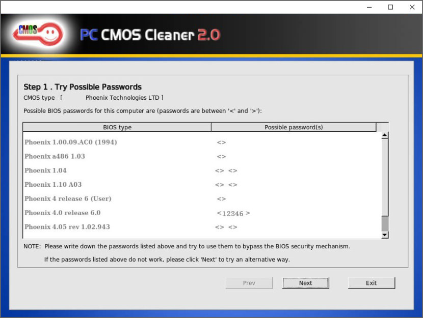 forgot bios password laptop lenovo