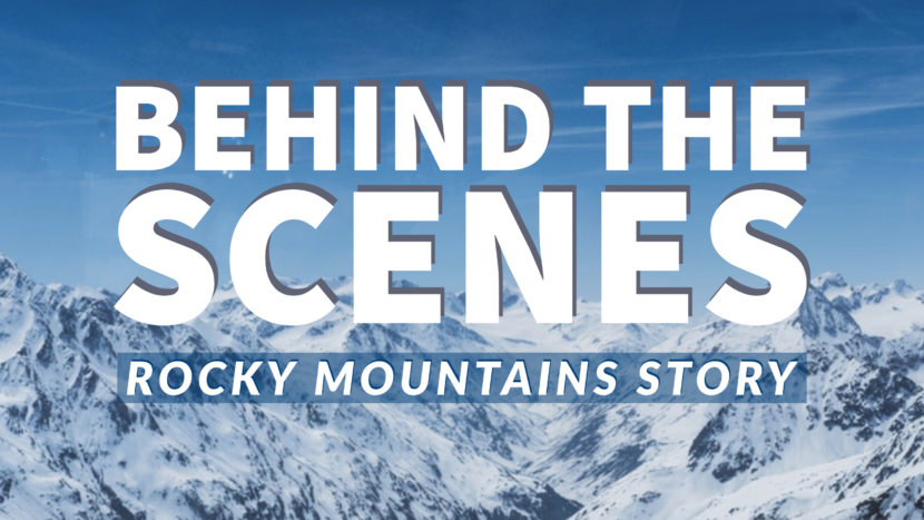 Screenshot of free rocky mountain YouTube thumbnail art template and thumbnail