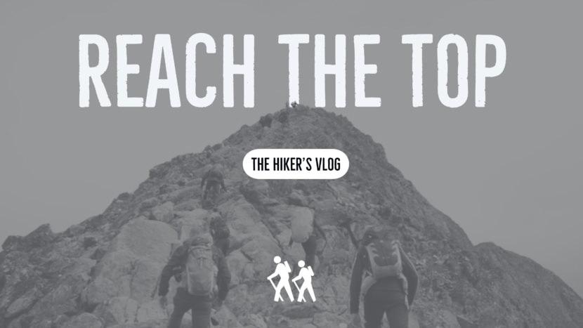 Screenshot of free mountain climbing YouTube thumbnail art template and thumbnail