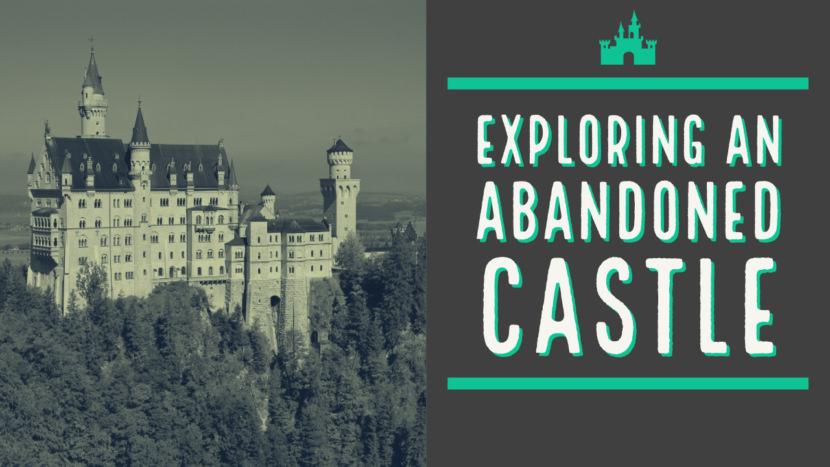 Screenshot of free european castle YouTube thumbnail art template and thumbnail