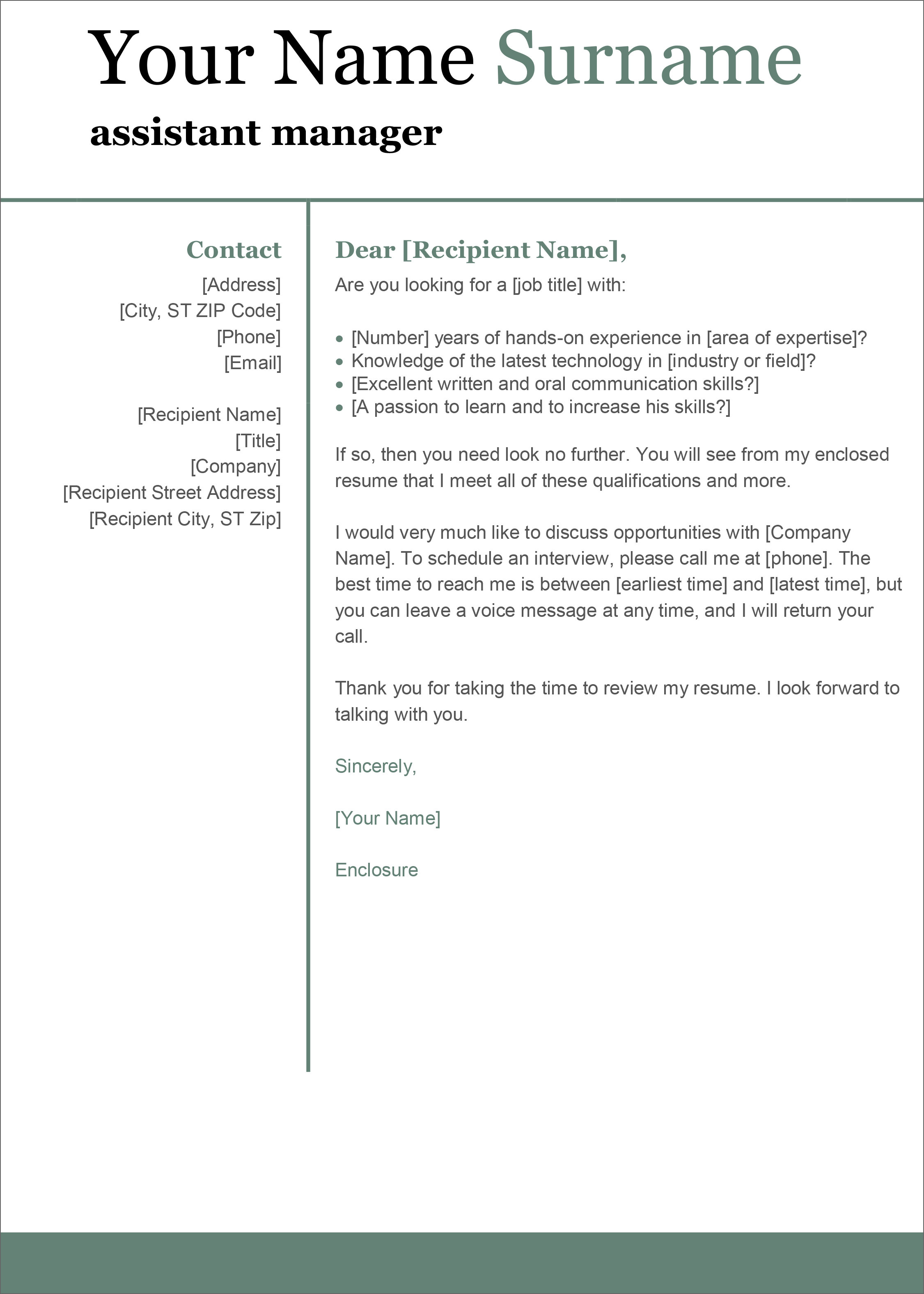 a letter template for word  12 Free Cover Letter Templates For Microsoft Word Docx And ...