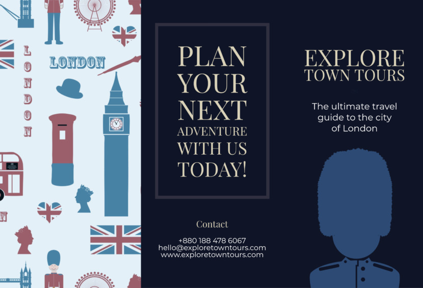 london tour travel england Free Editable Professional Brochure Templates
