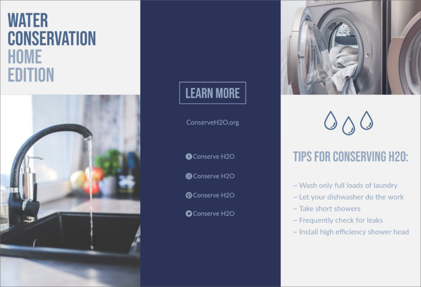 water conservation save environment Free Editable Professional Brochure Templates