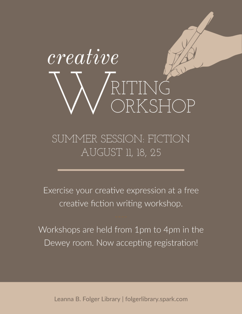 journalist writing workshop Free Poster And Flyer Templates