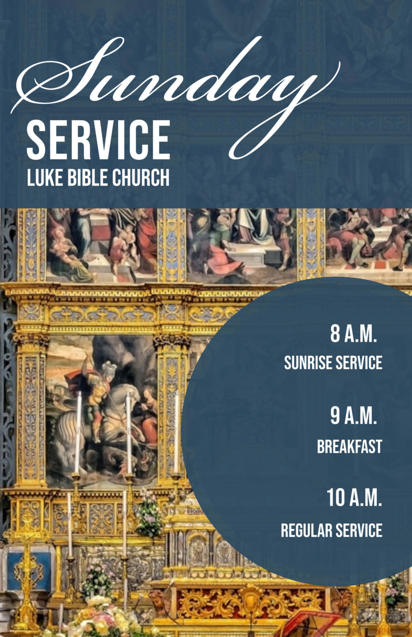 sunday service bible church bible study Free Poster And Flyer Templates