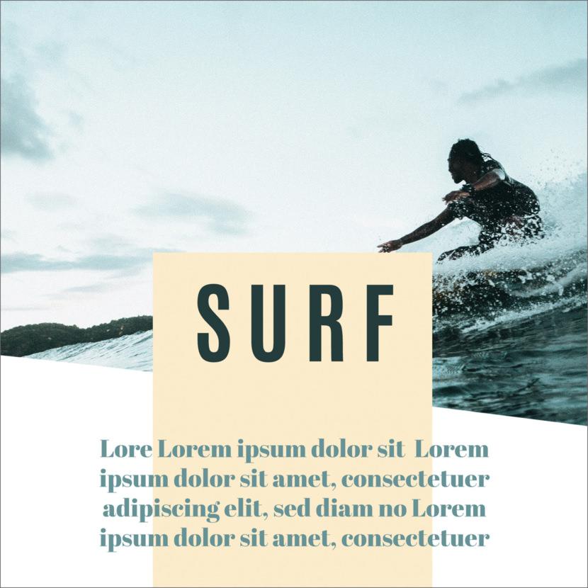 Surfing Instagram Template