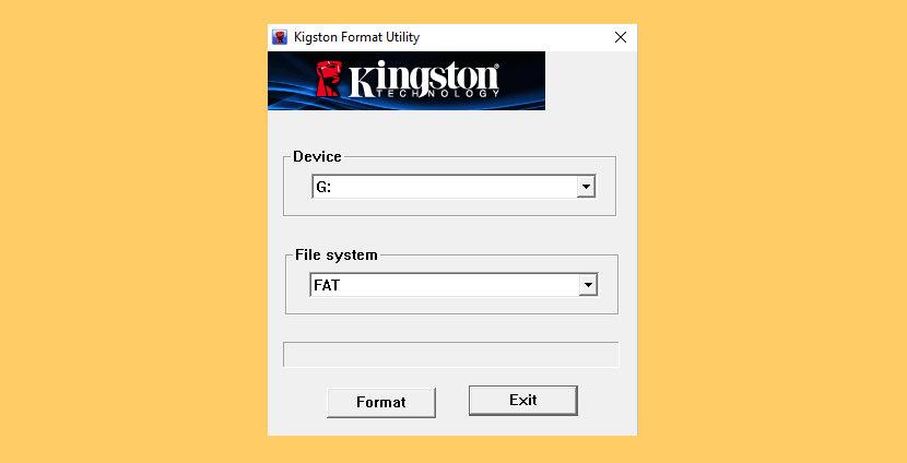 Kingston USB Format Tool