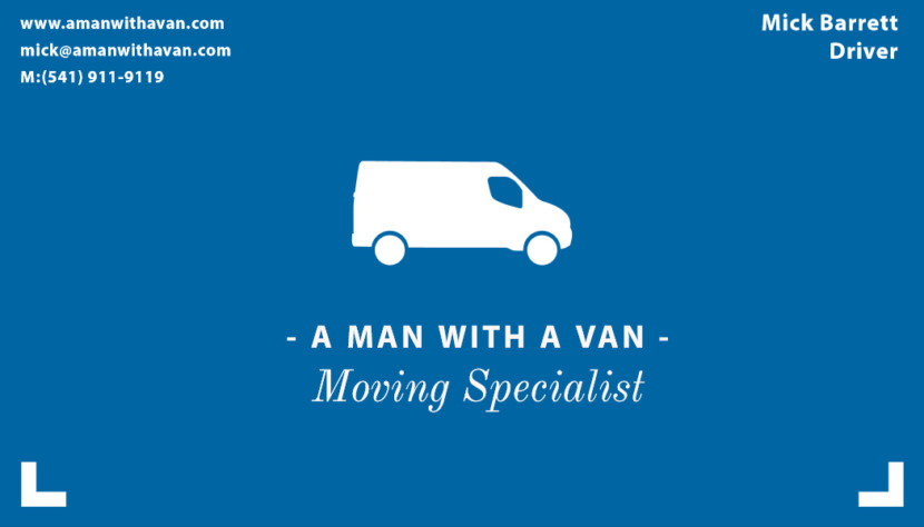 Screenshot of blank Moving Specialist Business Card Template