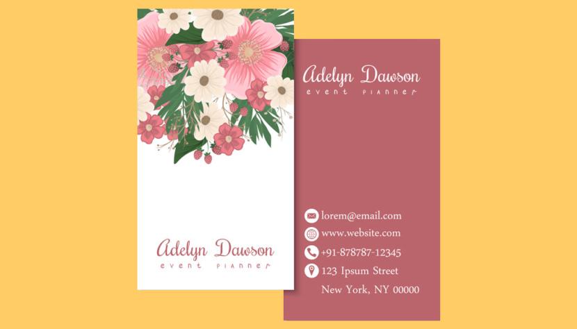 Screenshot of blank Beautiful Business Card Template
