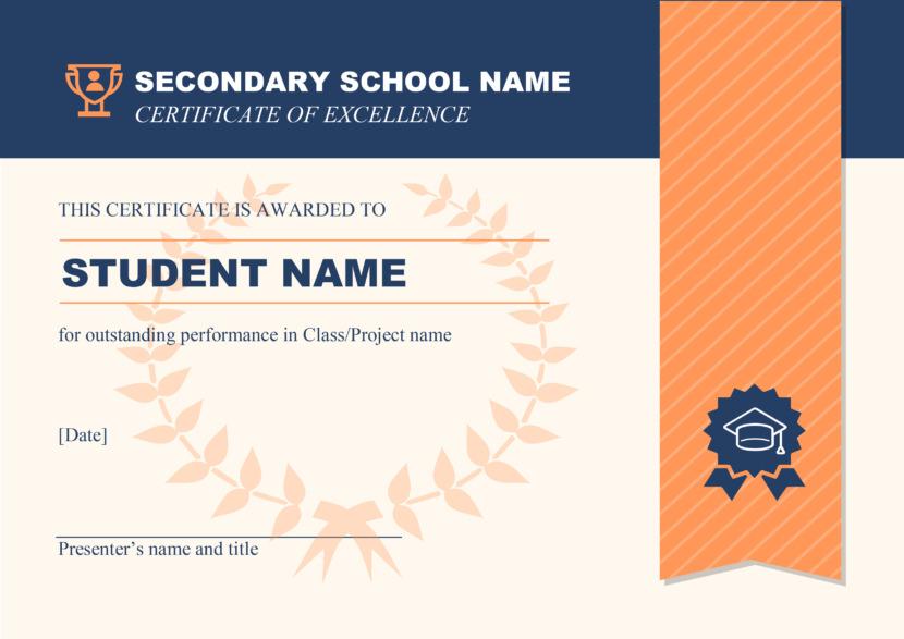 Creative Blank Certificate Templates high school project