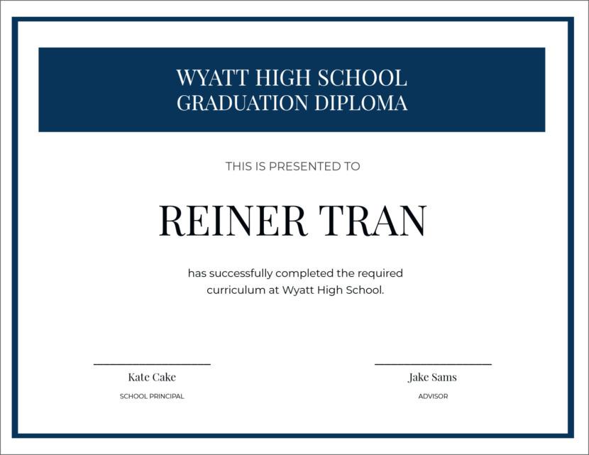 high school graduation Creative Blank Certificate Templates