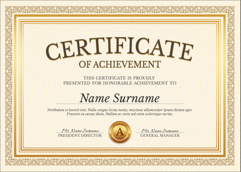 It's just an image of Free Printable Certificate of Achievement regarding congratulation