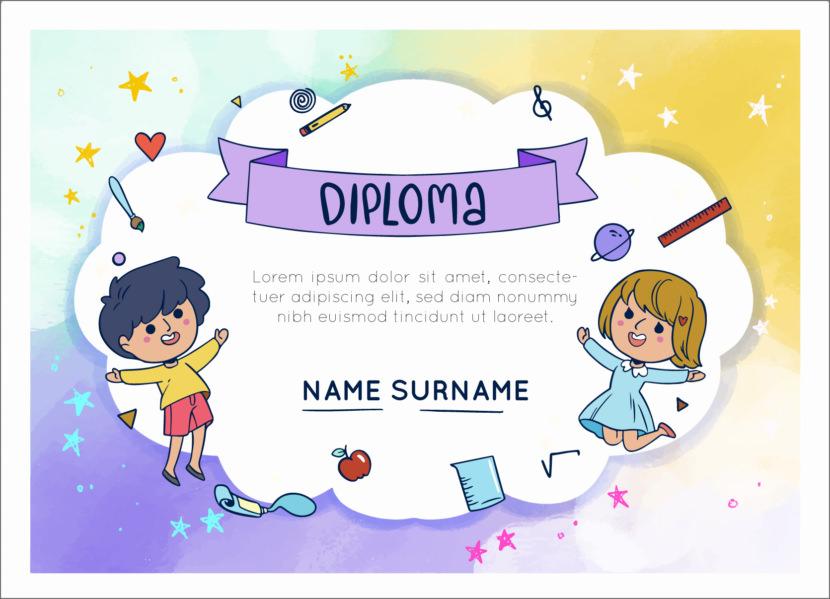 Kindergarten Blank Certificate Templates