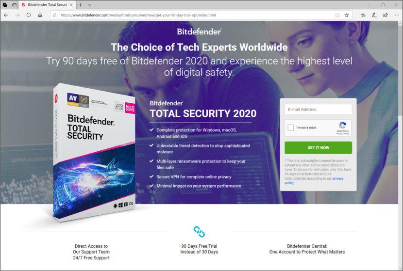 Download Bitdefender Total Security 2020 - Free 3 Months License