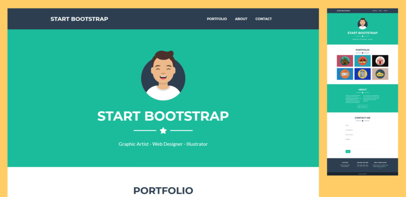 Freelancer is a flat design, one page Bootstrap portfolio theme perfect for freelancer portfolios, or any other one page website. Fully responsive portfolio theme ready to customize and publish. Ideal for a simple resume website.