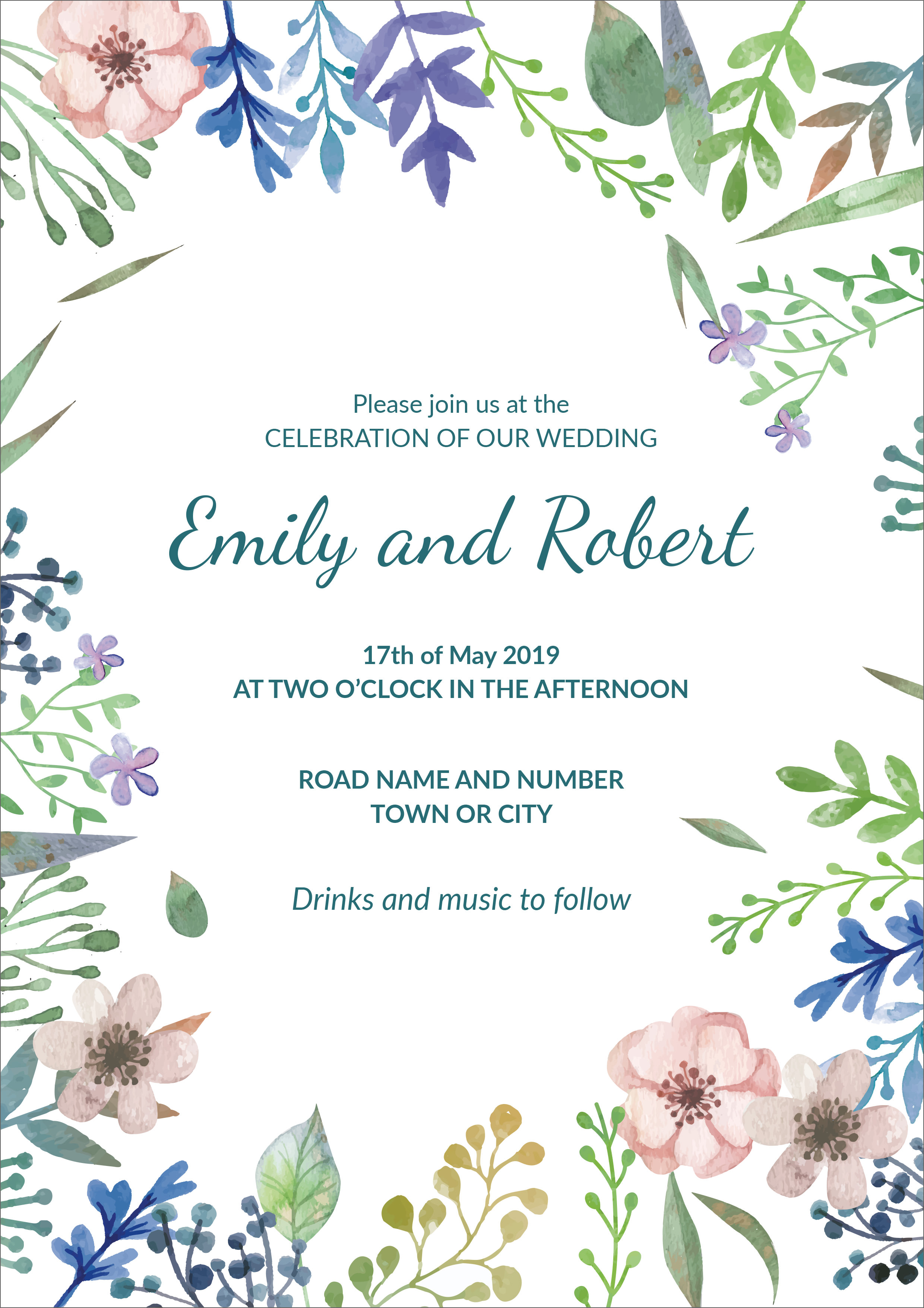30 Free Wedding Invitation Template Cards - Printable And Editable PSD