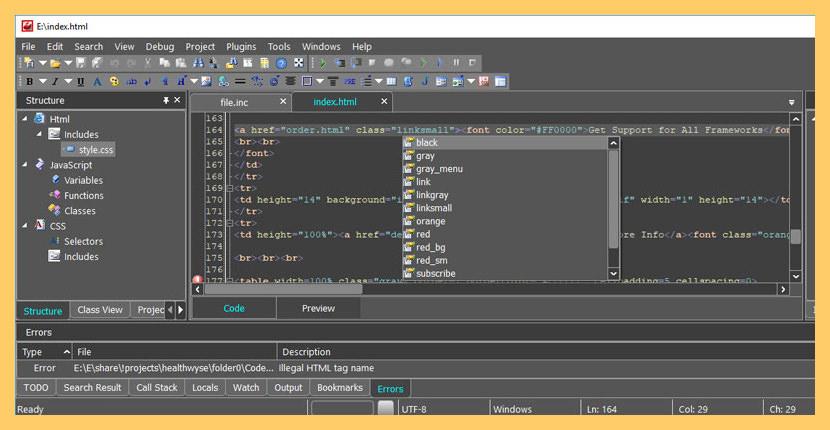 CodeLobster IDE Free