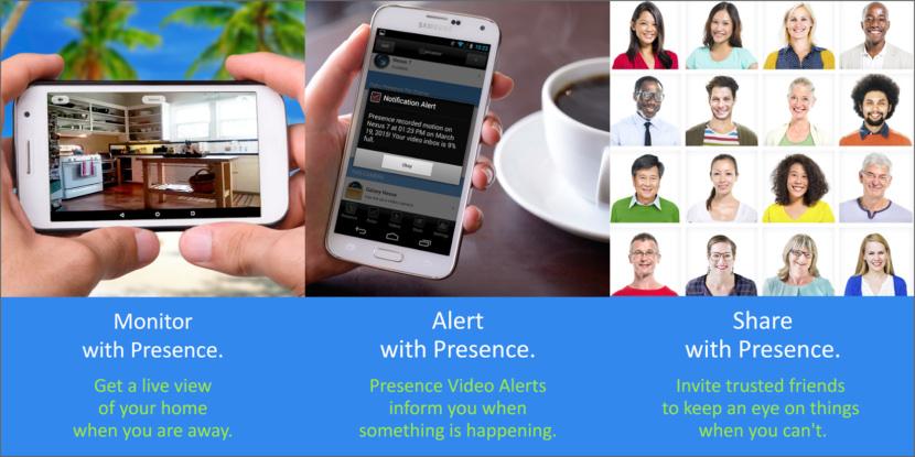 presence smartphone cctv